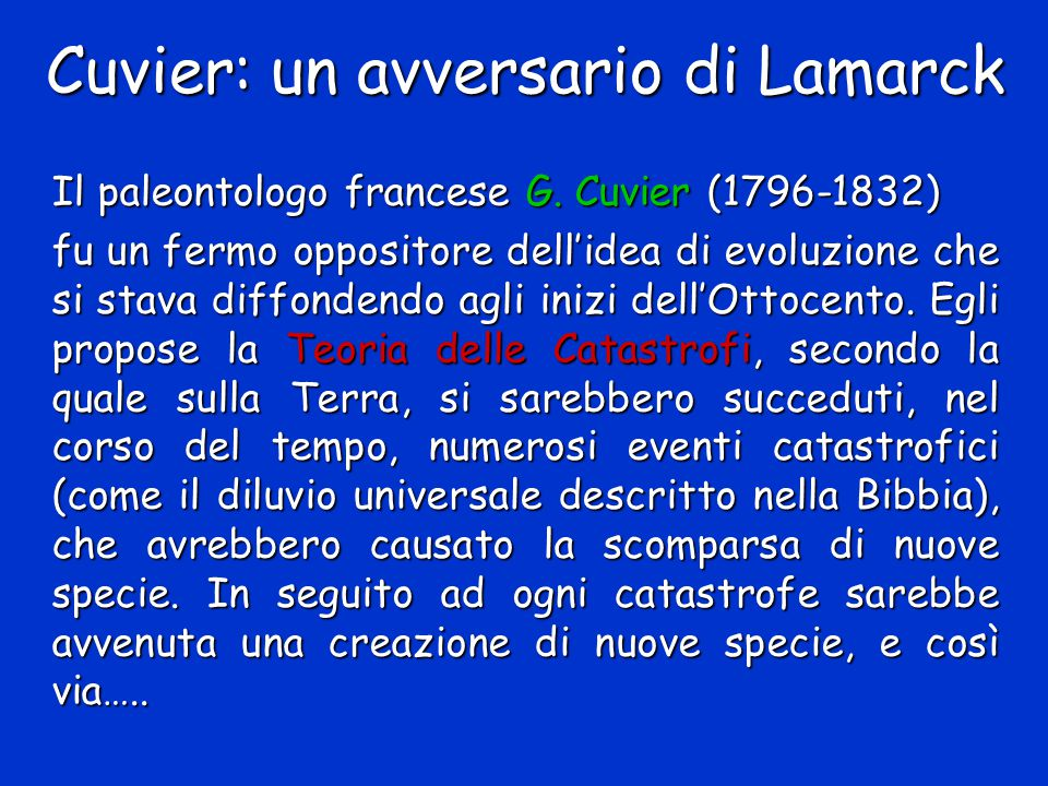 Cuvier: un avversario di Lamarck