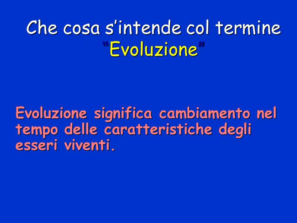 Che cosa s'intende col termine Evoluzione