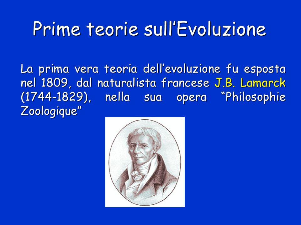 Prime teorie sull'Evoluzione