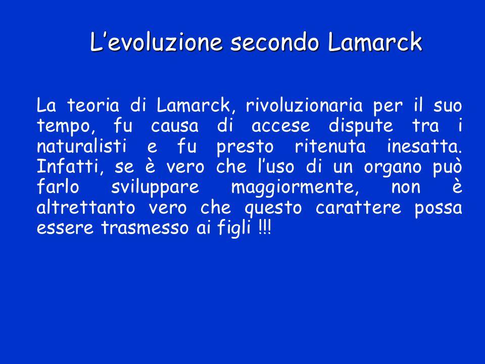 L'evoluzione secondo Lamarck