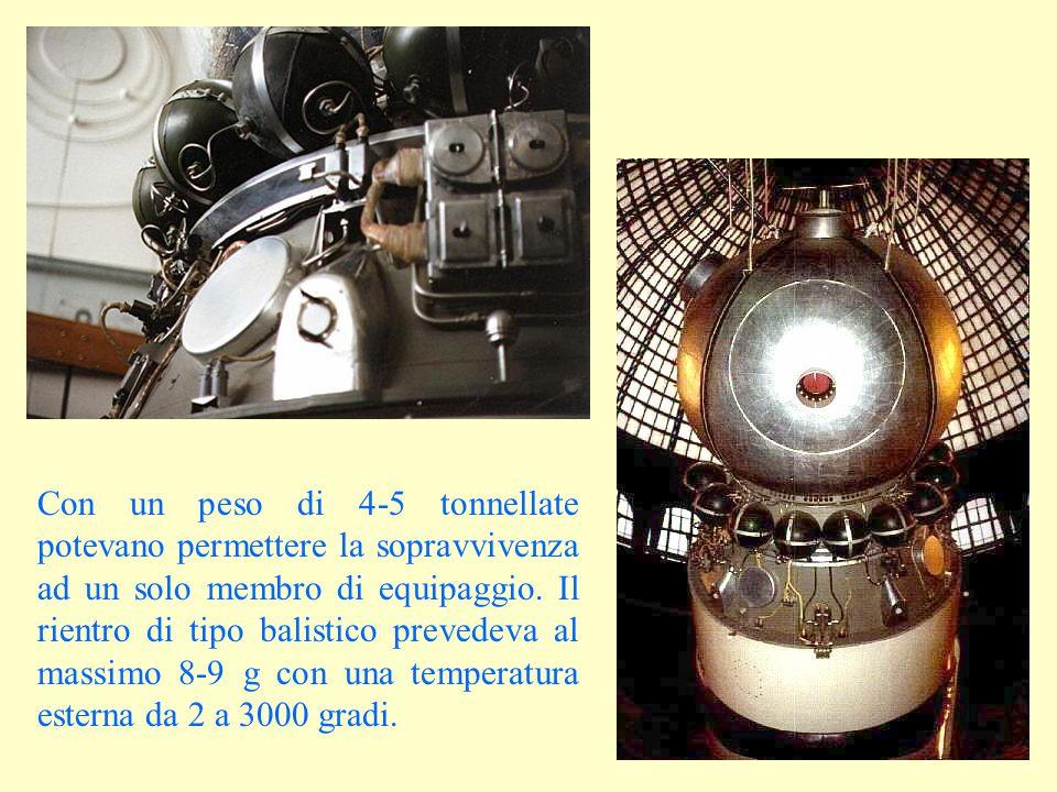 Con un peso di 4-5 tonnellate potevano permettere la sopravvivenza ad un solo membro di equipaggio.