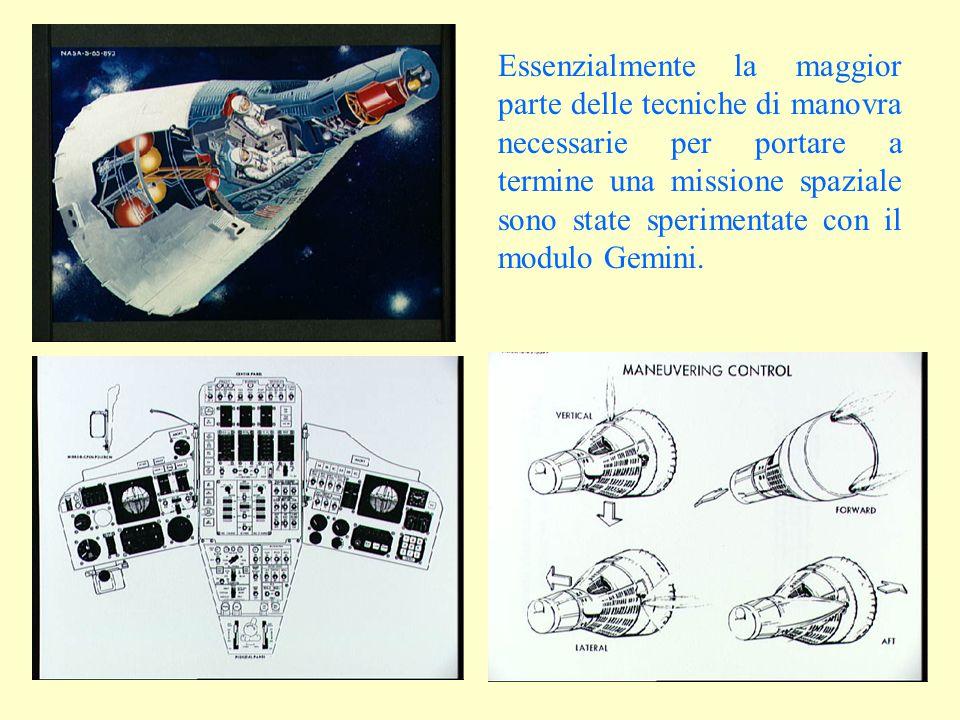Essenzialmente la maggior parte delle tecniche di manovra necessarie per portare a termine una missione spaziale sono state sperimentate con il modulo Gemini.
