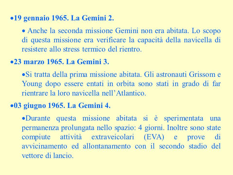 19 gennaio 1965. La Gemini 2.