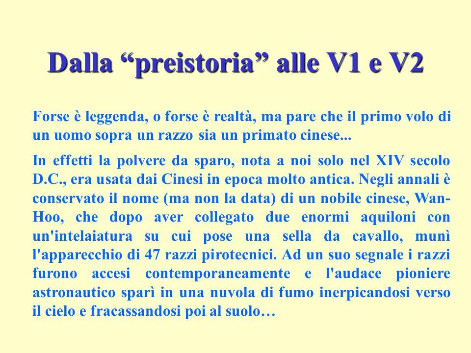 Dalla preistoria alle V1 e V2
