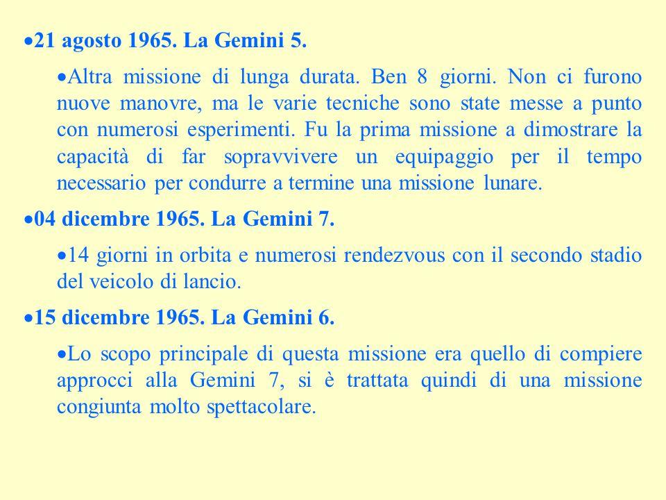 21 agosto 1965. La Gemini 5.