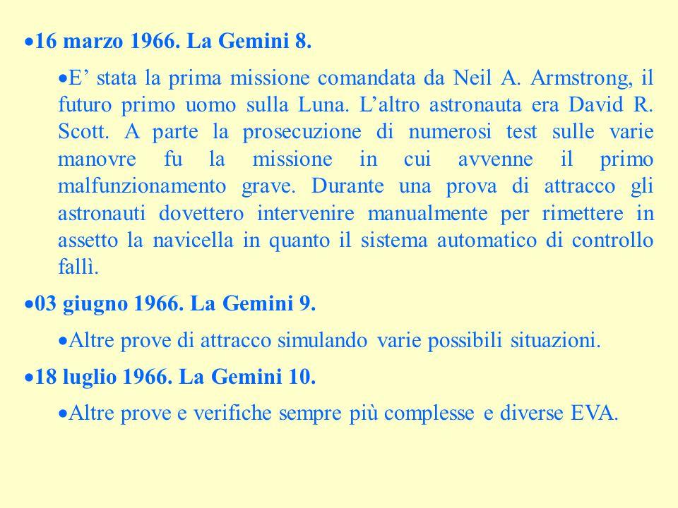 16 marzo 1966. La Gemini 8.