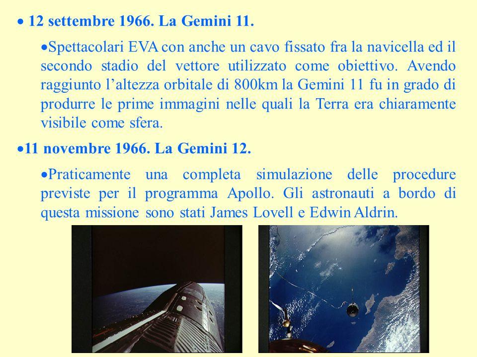 12 settembre 1966. La Gemini 11.