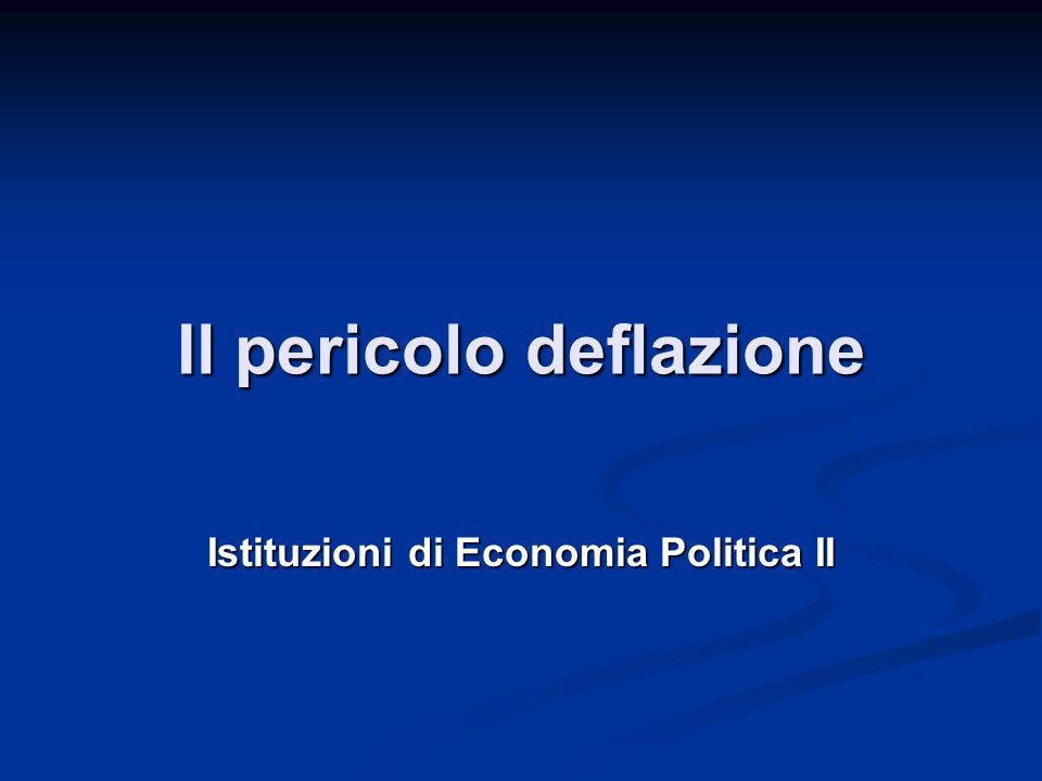Il pericolo deflazione