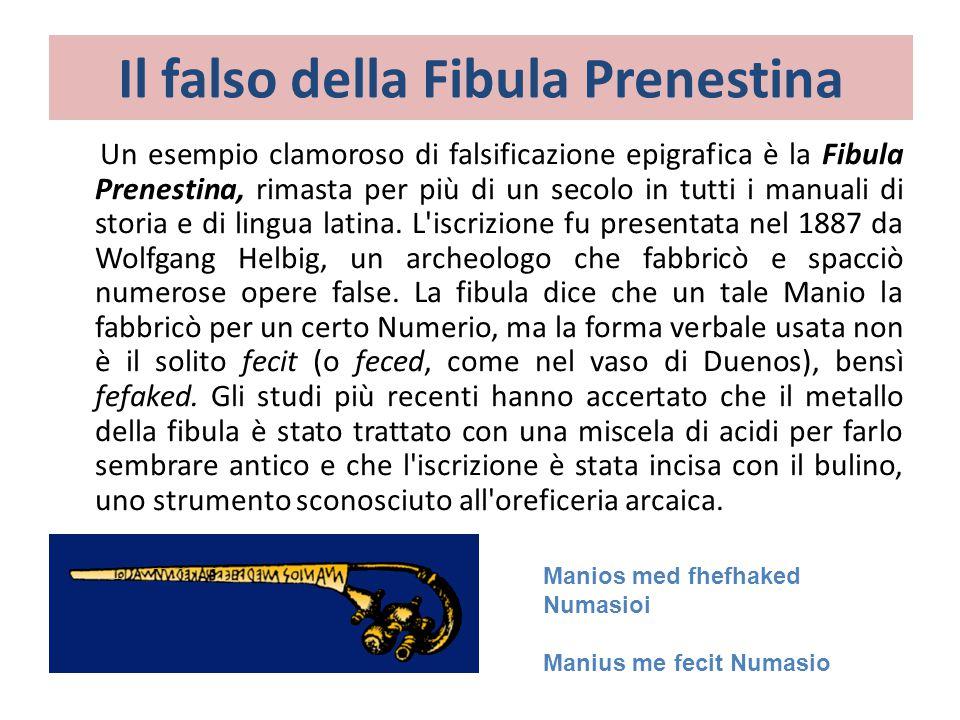 Il falso della Fibula Prenestina