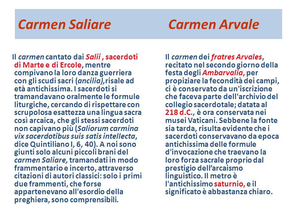 Carmen Saliare Carmen Arvale