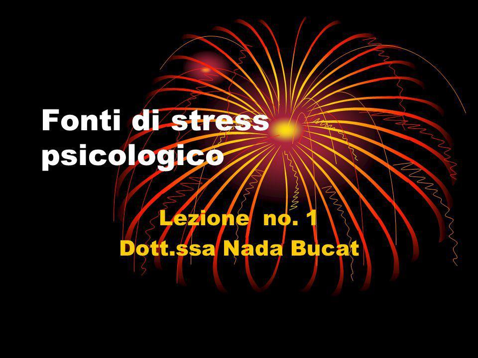 Fonti di stress psicologico