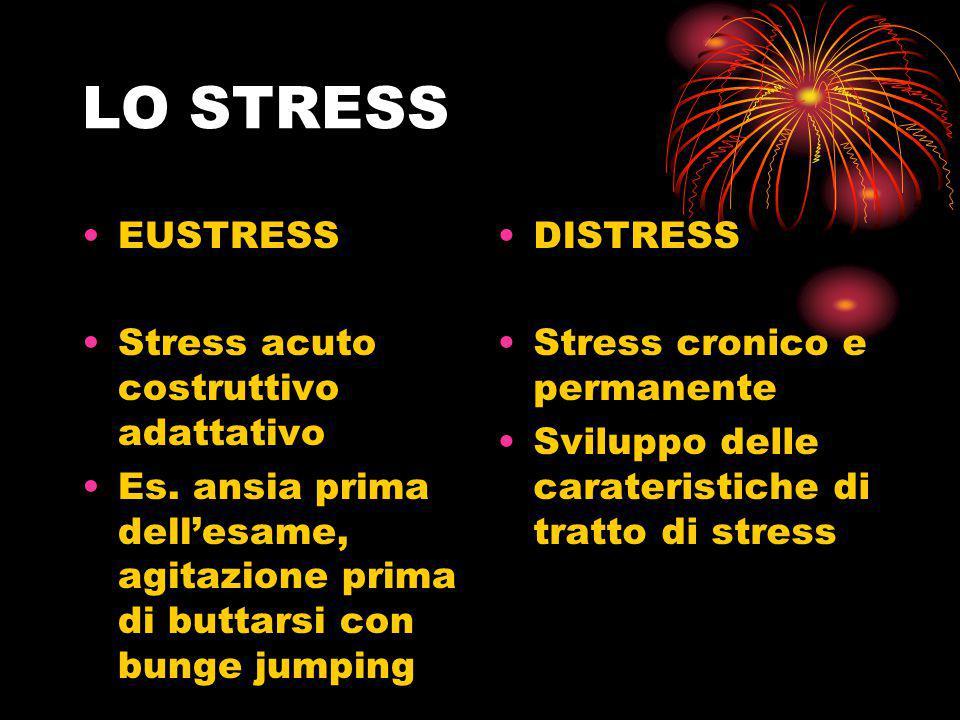 LO STRESS EUSTRESS Stress acuto costruttivo adattativo