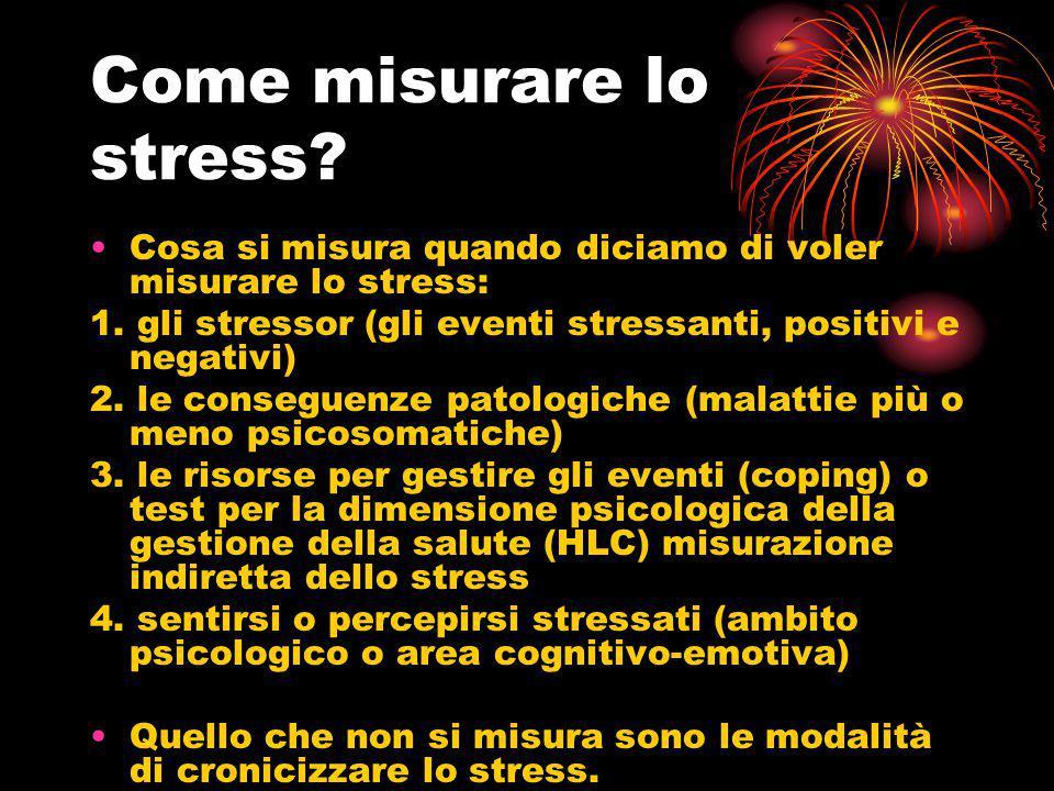 Come misurare lo stress