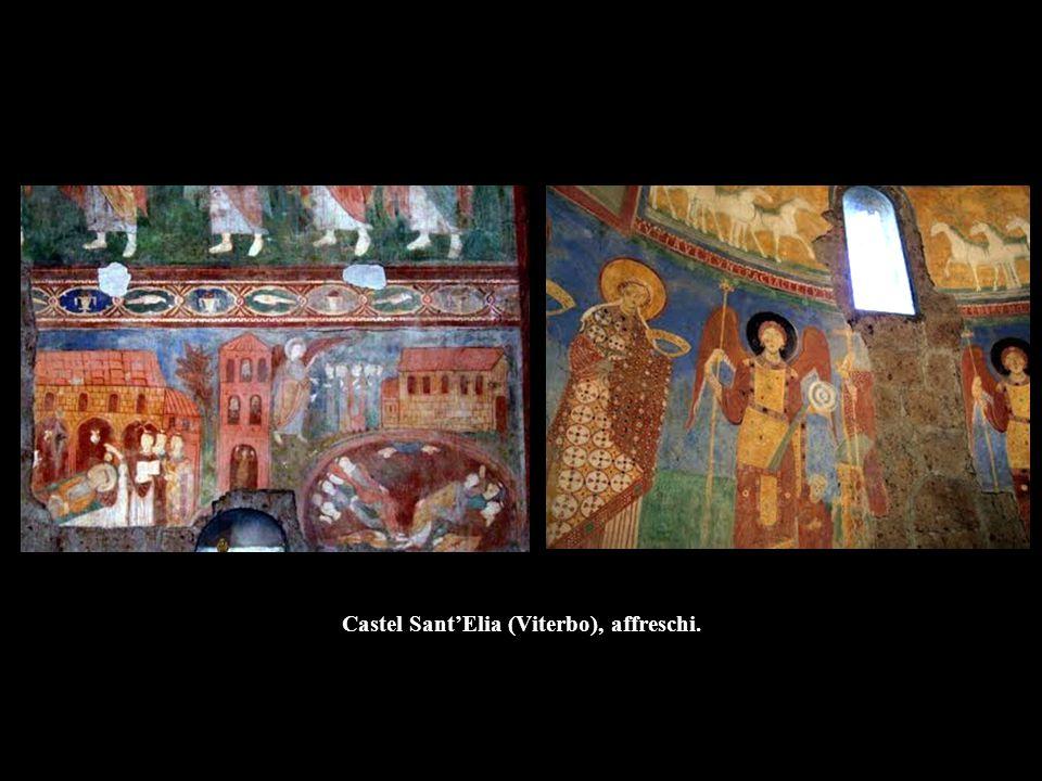 Castel Sant'Elia (Viterbo), affreschi.