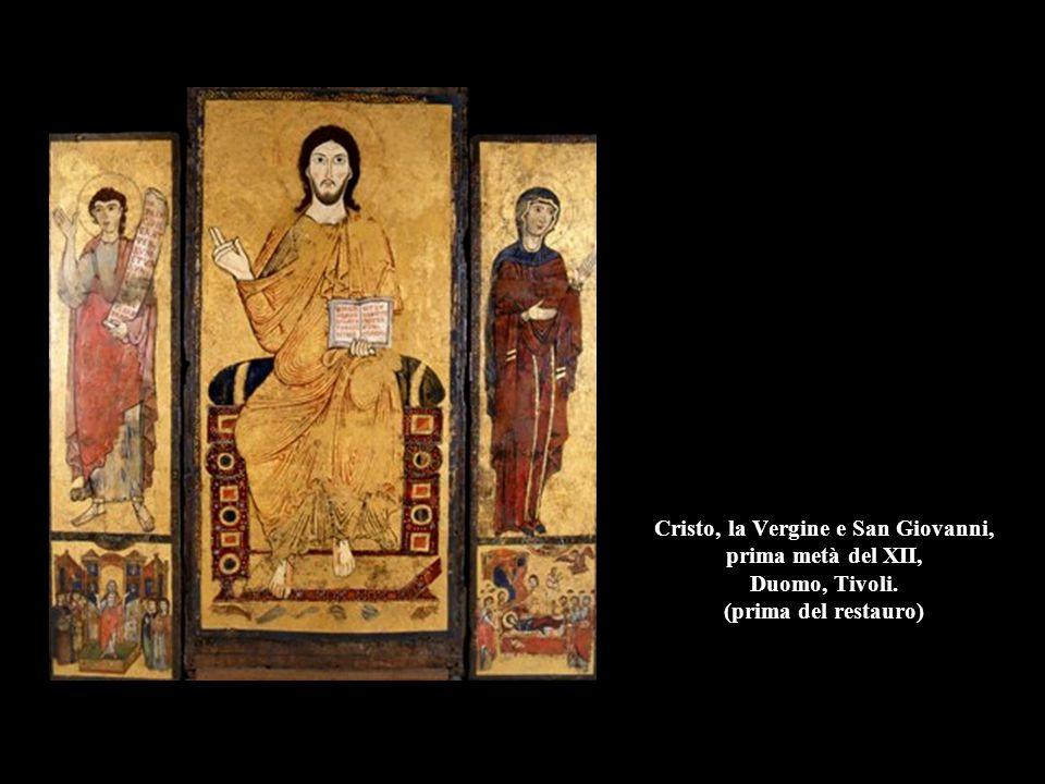 Cristo, la Vergine e San Giovanni, prima metà del XII, Duomo, Tivoli