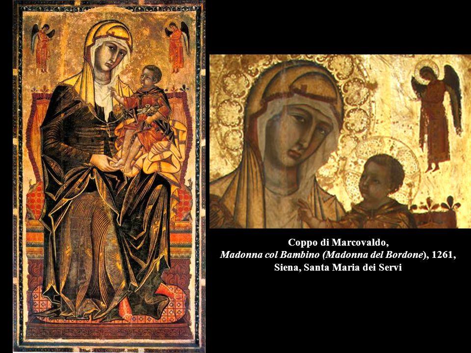 Coppo di Marcovaldo, Madonna col Bambino (Madonna del Bordone), 1261, Siena, Santa Maria dei Servi