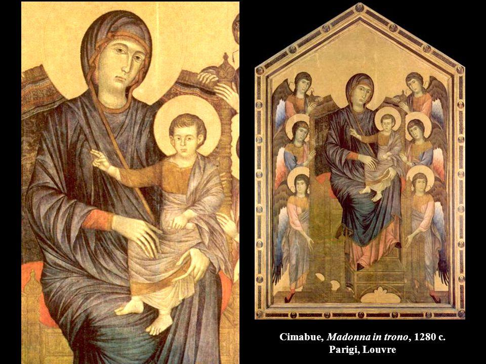 Cimabue, Madonna in trono, 1280 c. Parigi, Louvre