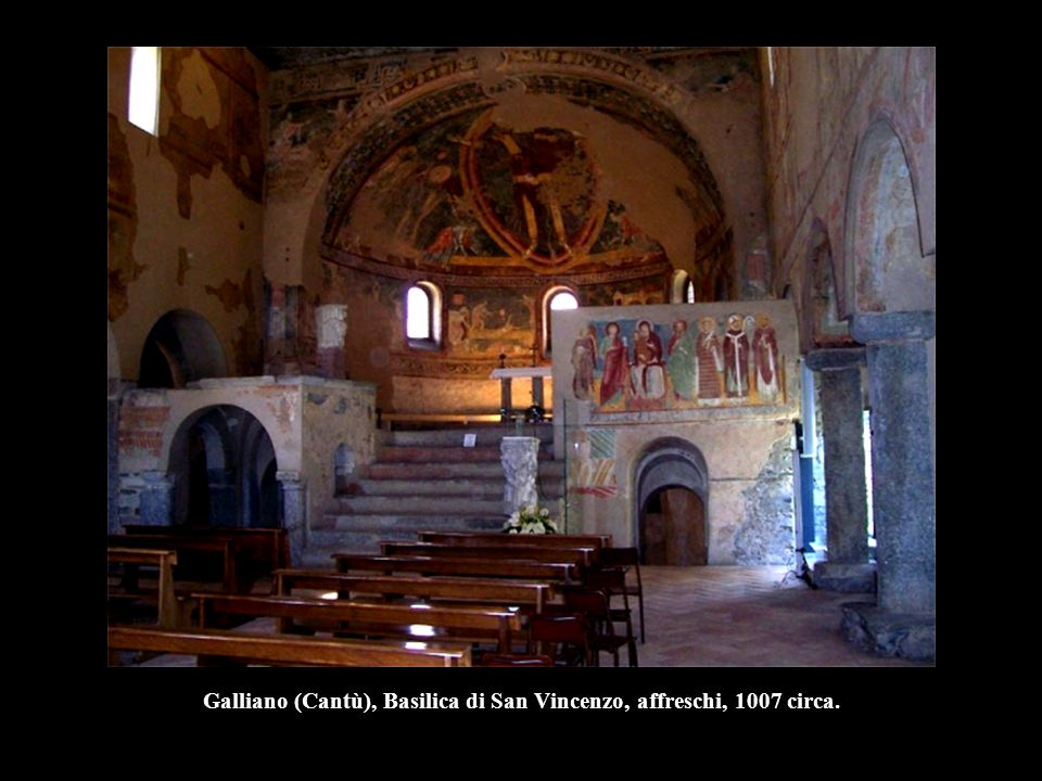 Galliano (Cantù), Basilica di San Vincenzo, affreschi, 1007 circa.