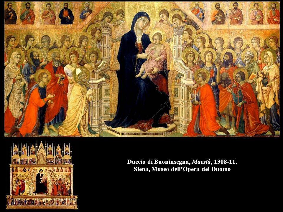 Duccio di Buoninsegna, Maestà, 1308-11, Siena, Museo dell'Opera del Duomo