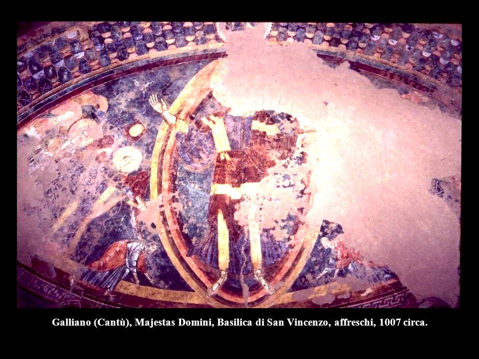 Galliano (Cantù), Majestas Domini, Basilica di San Vincenzo, affreschi, 1007 circa.