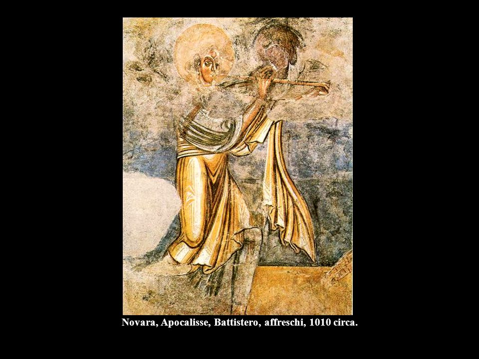 Novara, Apocalisse, Battistero, affreschi, 1010 circa.