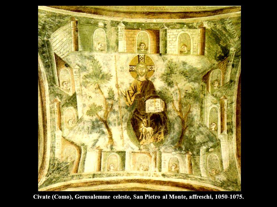 Civate (Como), Gerusalemme celeste, San Pietro al Monte, affreschi, 1050-1075.