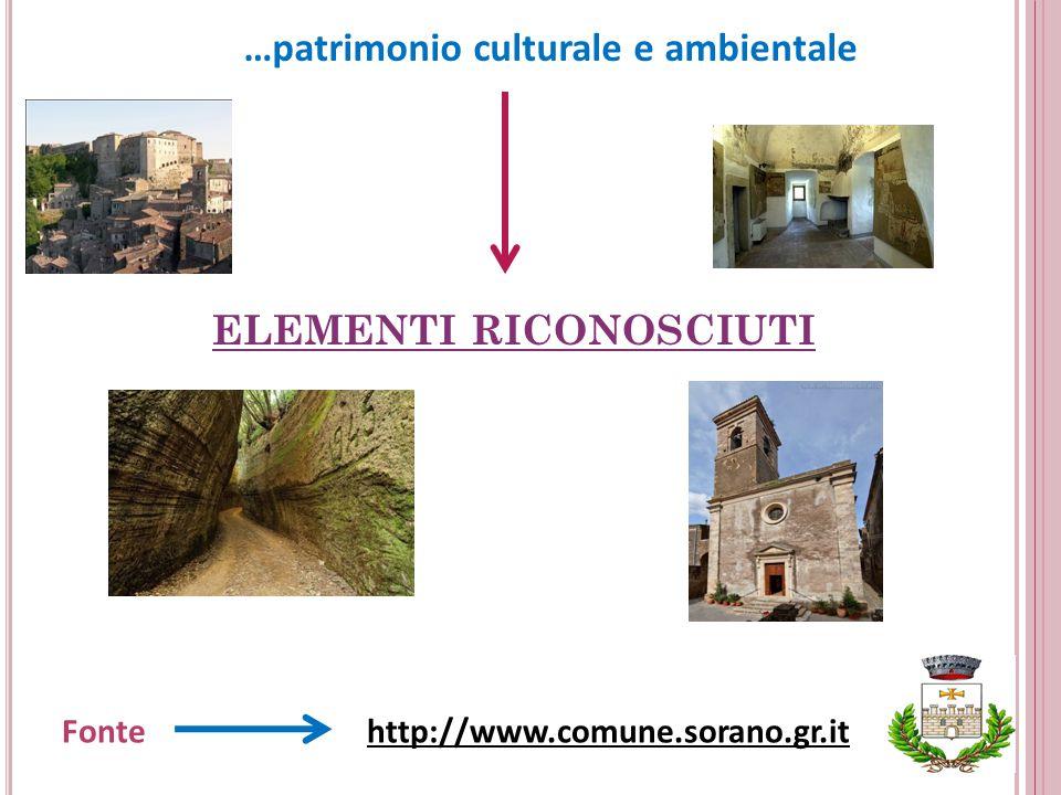 …patrimonio culturale e ambientale ELEMENTI RICONOSCIUTI