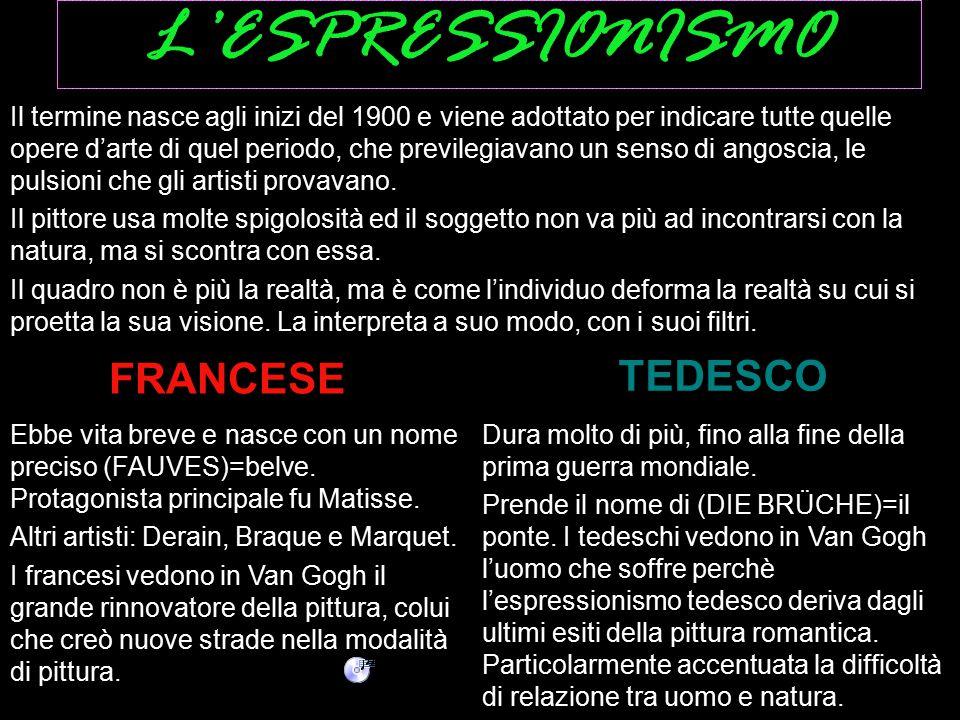 L'ESPRESSIONISMO TEDESCO FRANCESE