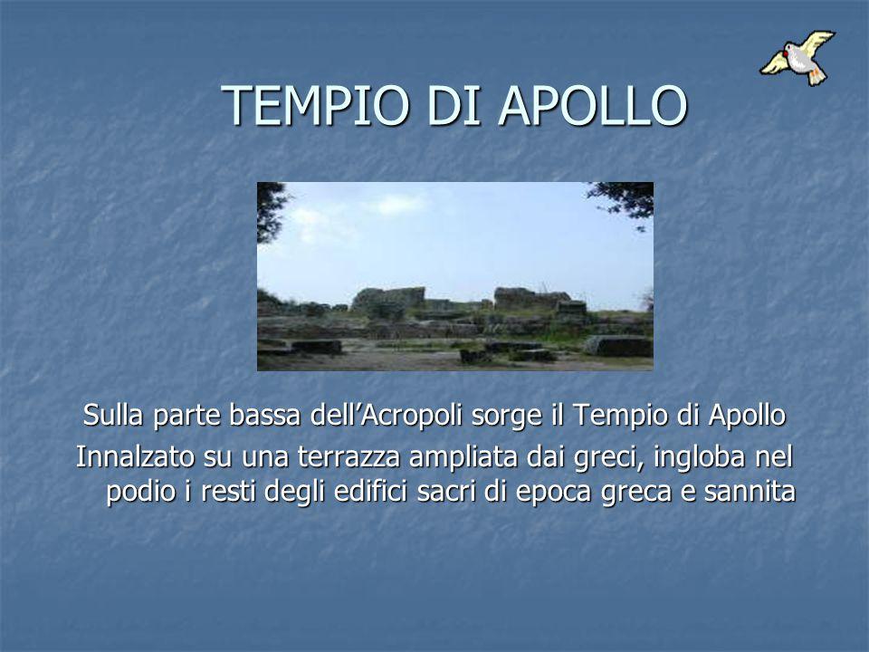 Sulla parte bassa dell'Acropoli sorge il Tempio di Apollo