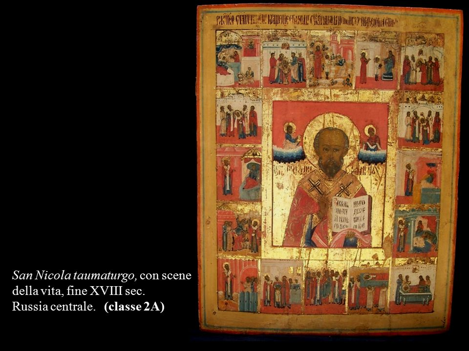 San Nicola taumaturgo, con scene