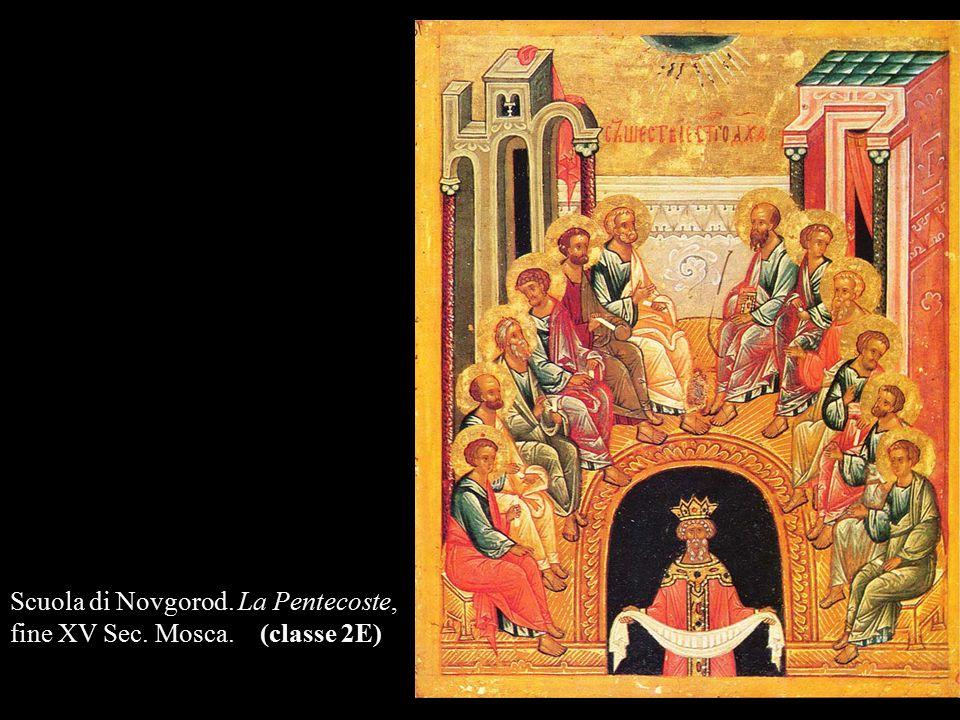Scuola di Novgorod. La Pentecoste,