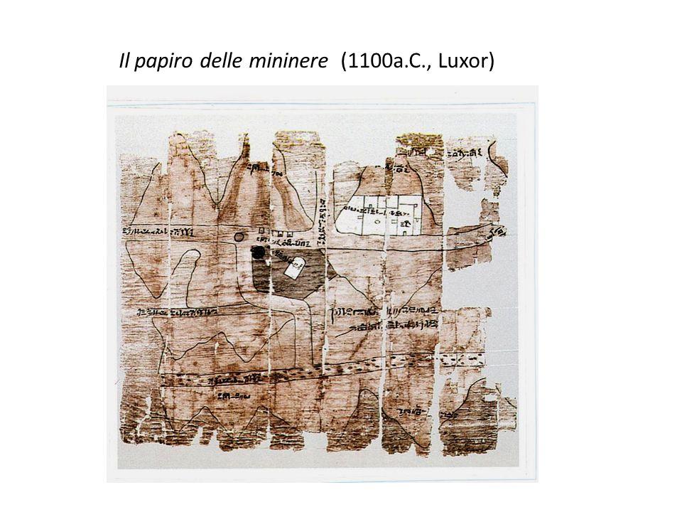 Il papiro delle mininere (1100a.C., Luxor)