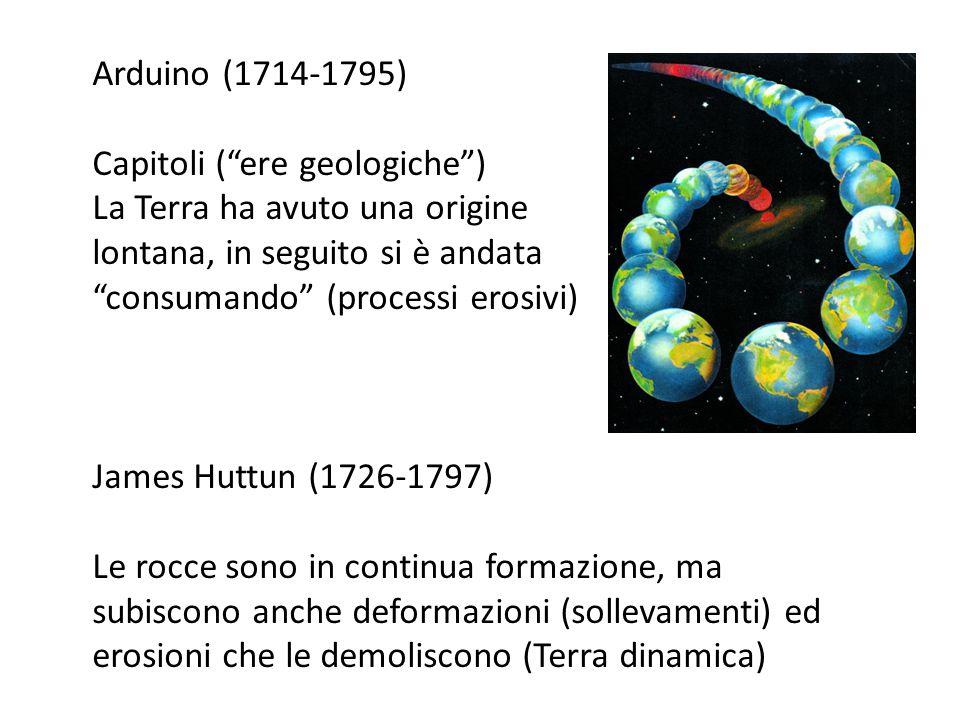 Arduino (1714-1795) Capitoli ( ere geologiche ) La Terra ha avuto una origine. lontana, in seguito si è andata.