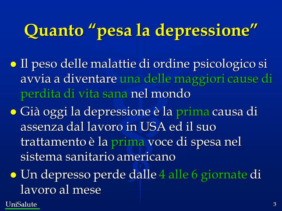 Quanto pesa la depressione