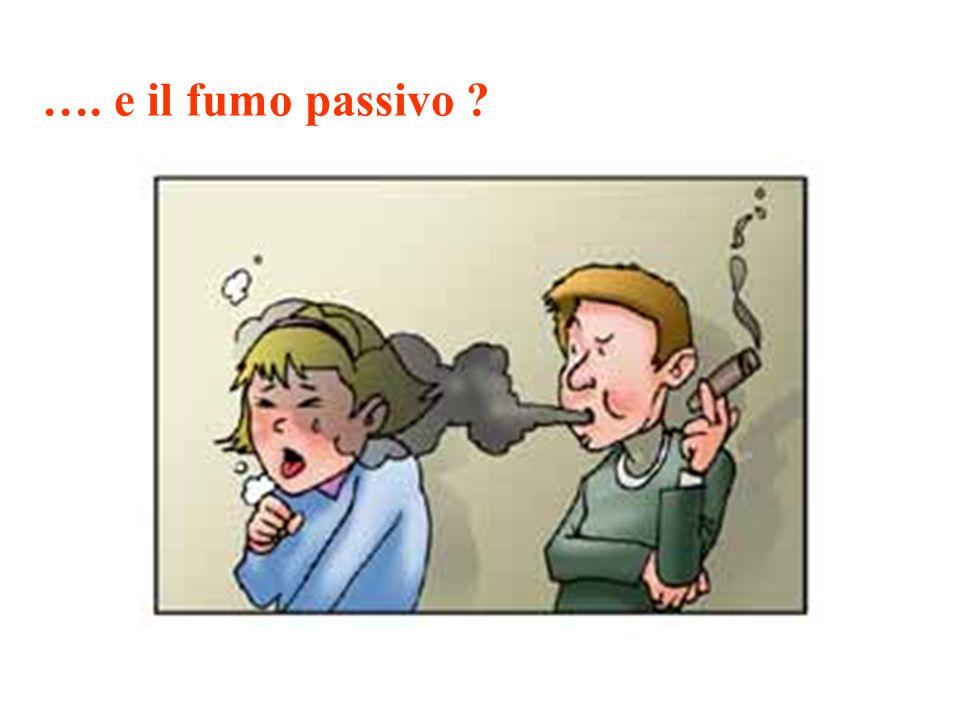 …. e il fumo passivo