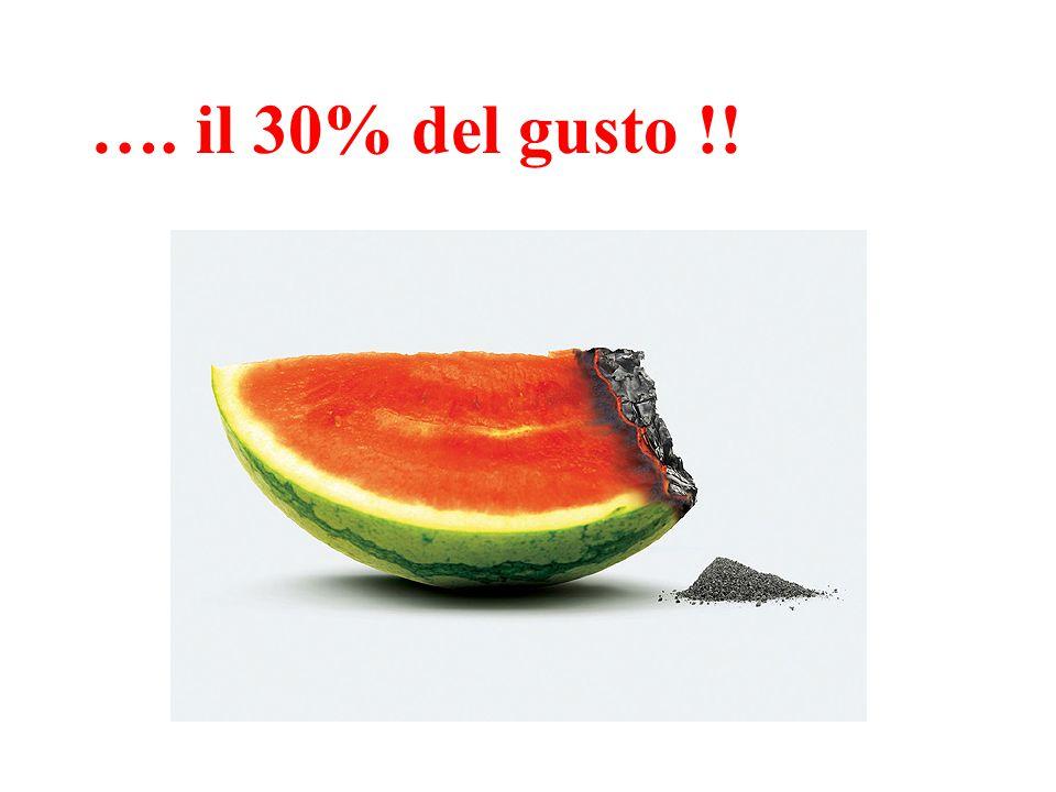 …. il 30% del gusto !!