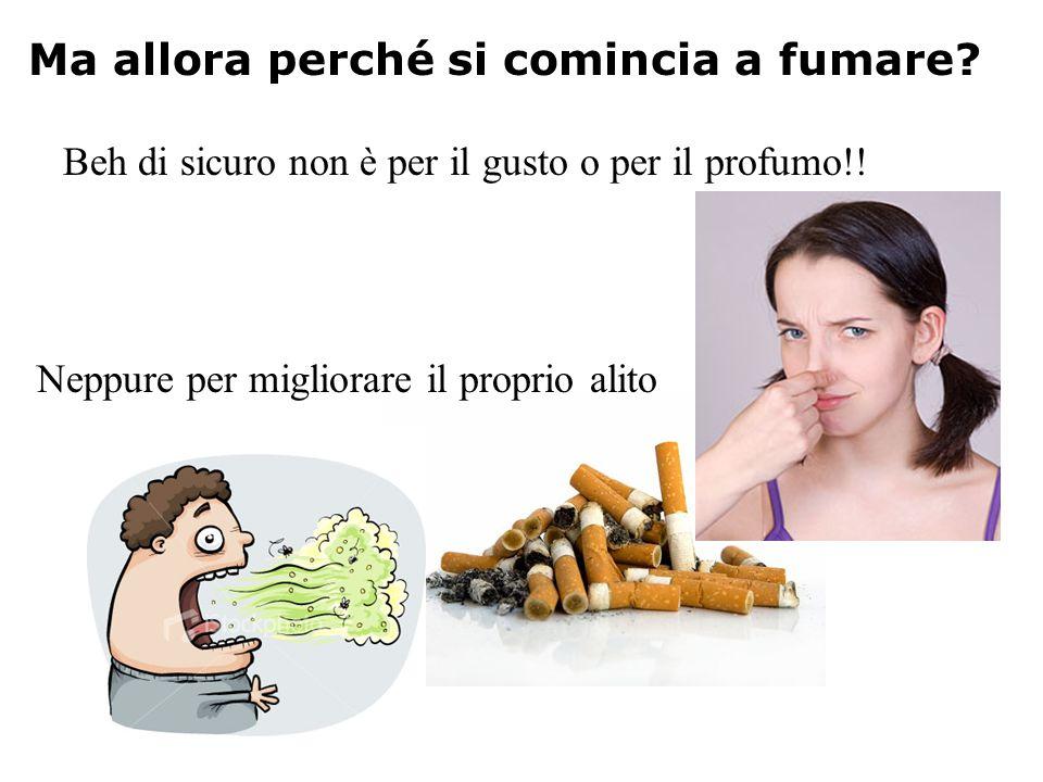 Ma allora perché si comincia a fumare