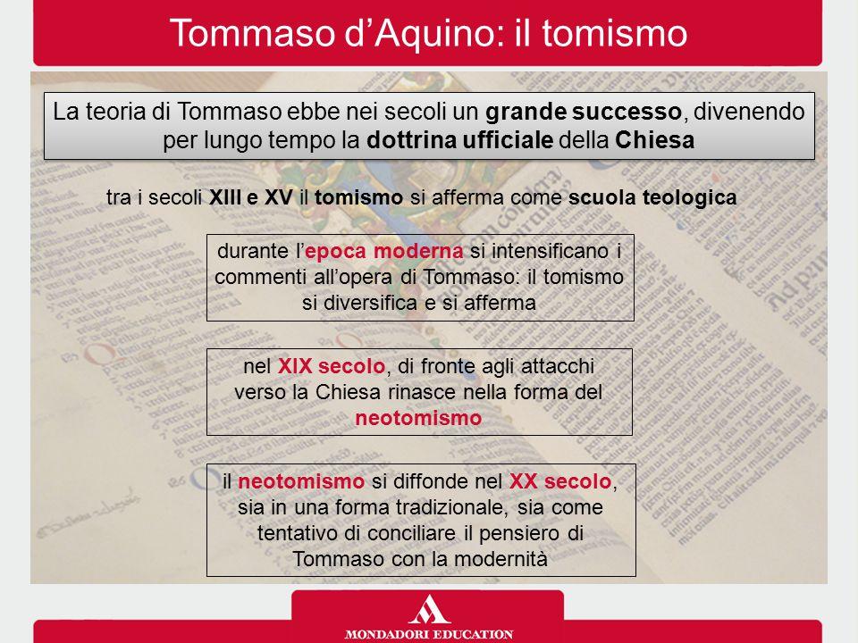 Tommaso d'Aquino: il tomismo