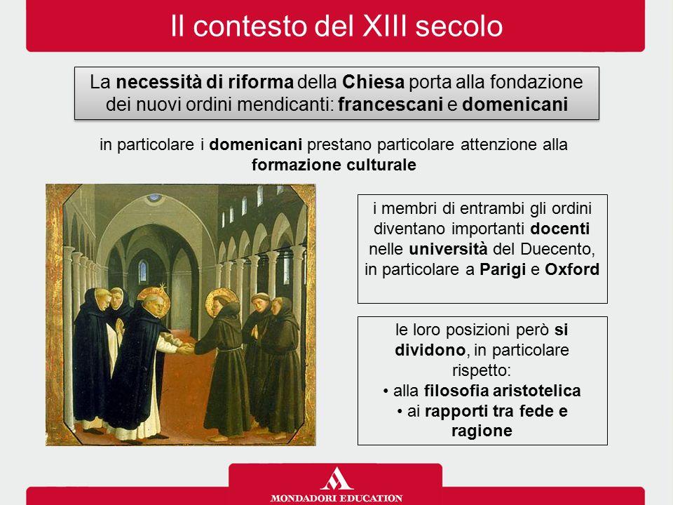 Il contesto del XIII secolo