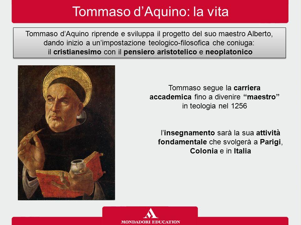 Tommaso d'Aquino: la vita