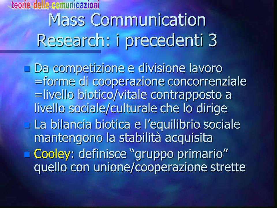Mass Communication Research: i precedenti 3