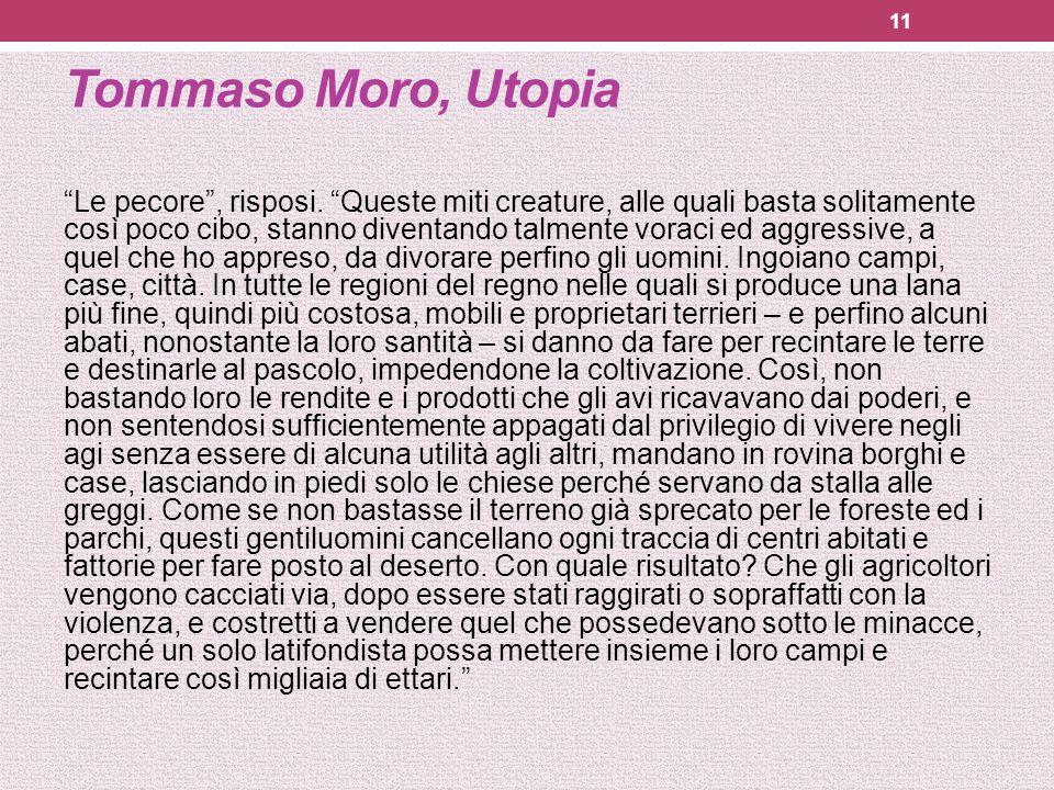 Tommaso Moro, Utopia