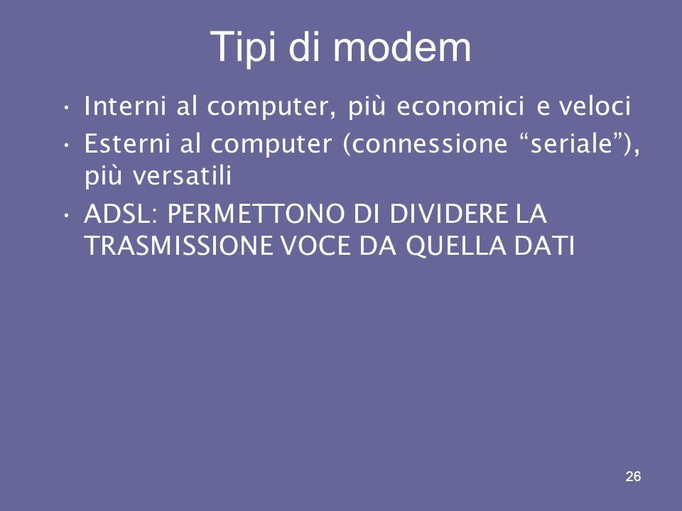 Tipi di modem Interni al computer, più economici e veloci
