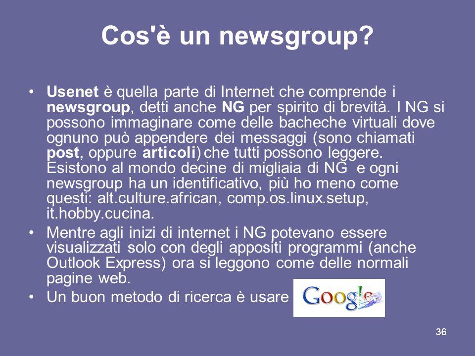 Cos è un newsgroup