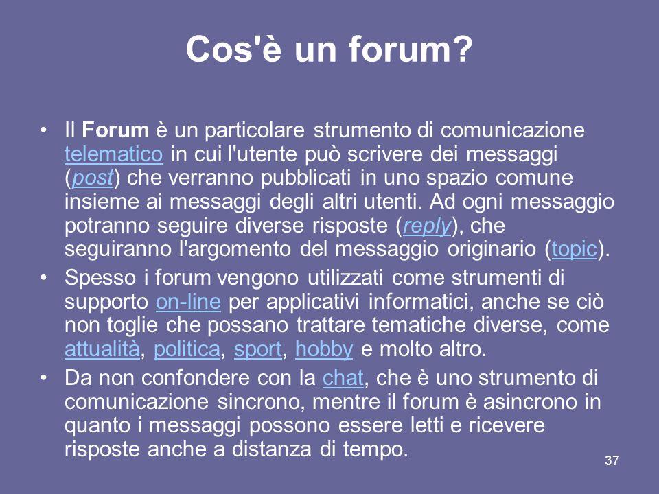 Cos è un forum