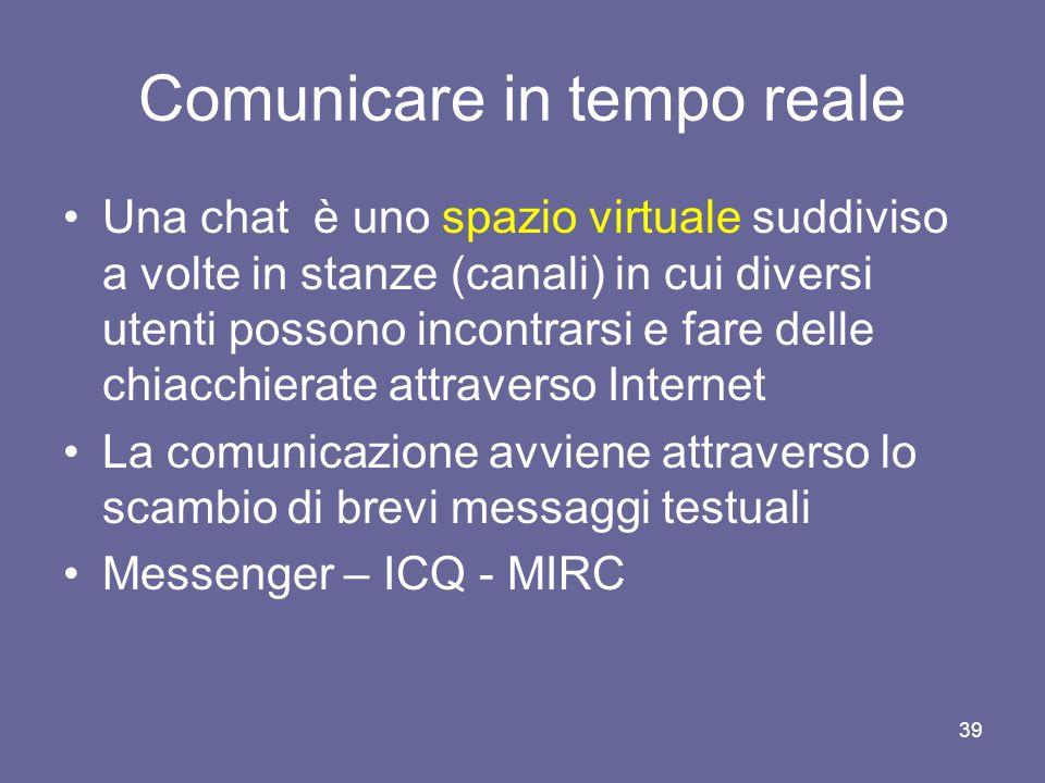 Comunicare in tempo reale