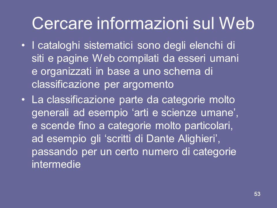 Cercare informazioni sul Web