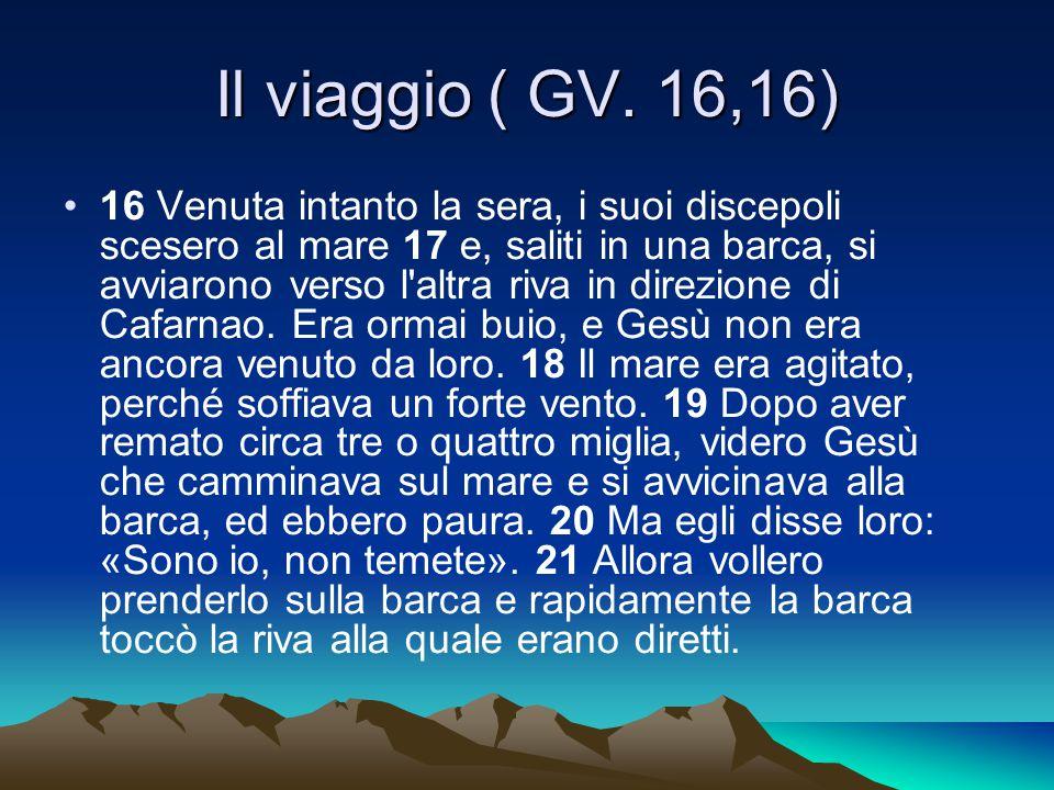 Il viaggio ( GV. 16,16)