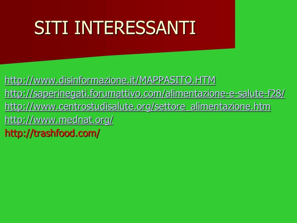 SITI INTERESSANTI http://www.disinformazione.it/MAPPASITO.HTM