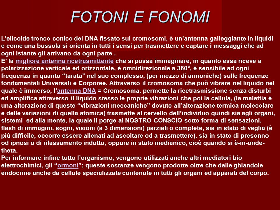 FOTONI E FONOMI